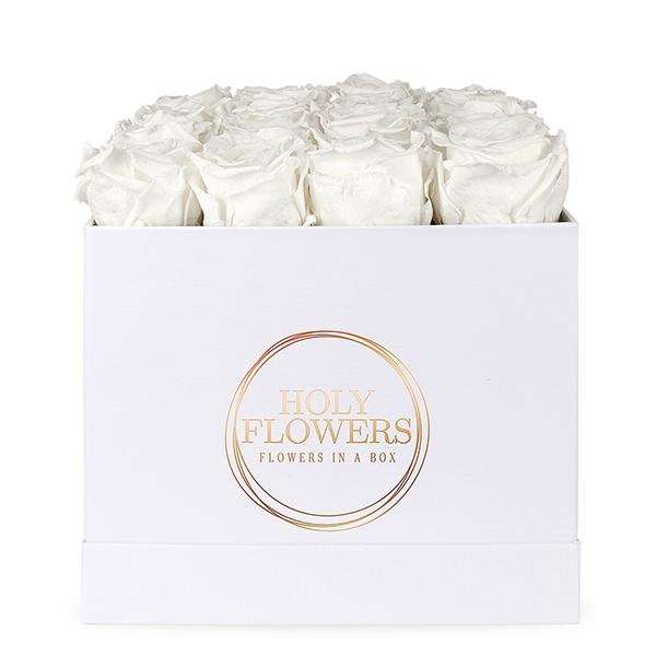 holy white m muttertag besonderer anlass holy flowers rosen in der box exklusive. Black Bedroom Furniture Sets. Home Design Ideas